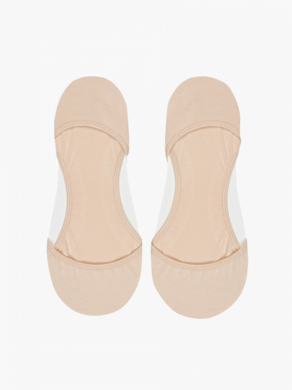 2-PACK BASIC FOOTIES WITH SILICONE HEEL