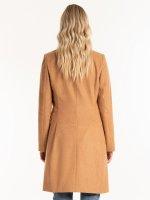 Basic coat in wool blend