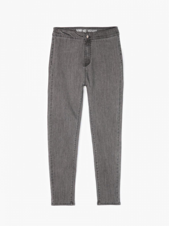 Jednoduché džíny skinny s vysokým pasem