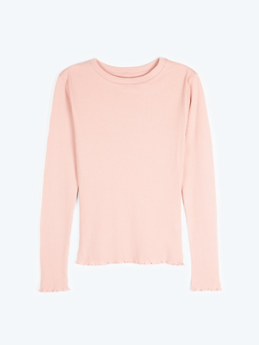 Ribbed cotton basic top
