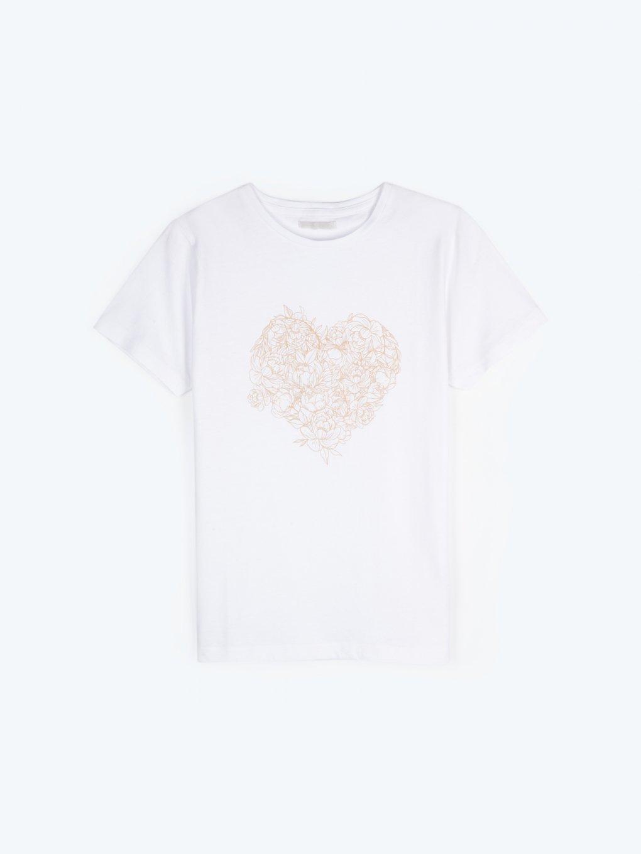 Bawełniane koszulka z nadrukiem