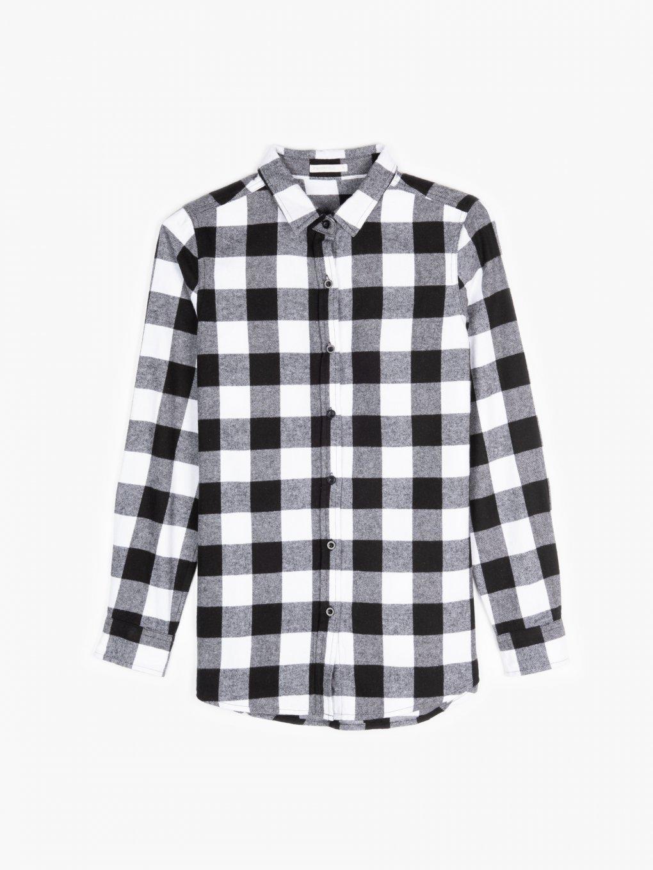 Károvaná flanelová košeľa