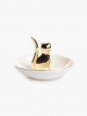 Jewellery plate with cat
