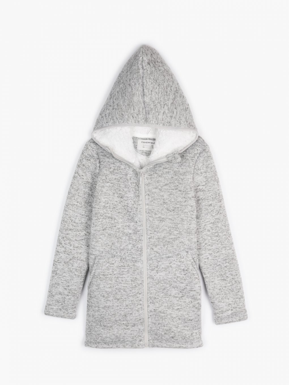 Pile lined marled jacket