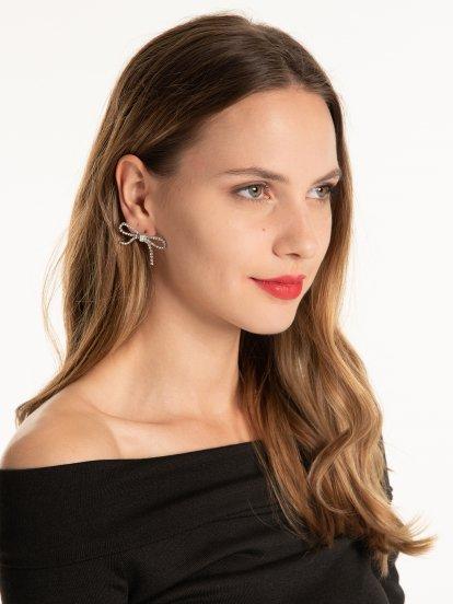 Bow strass earrings