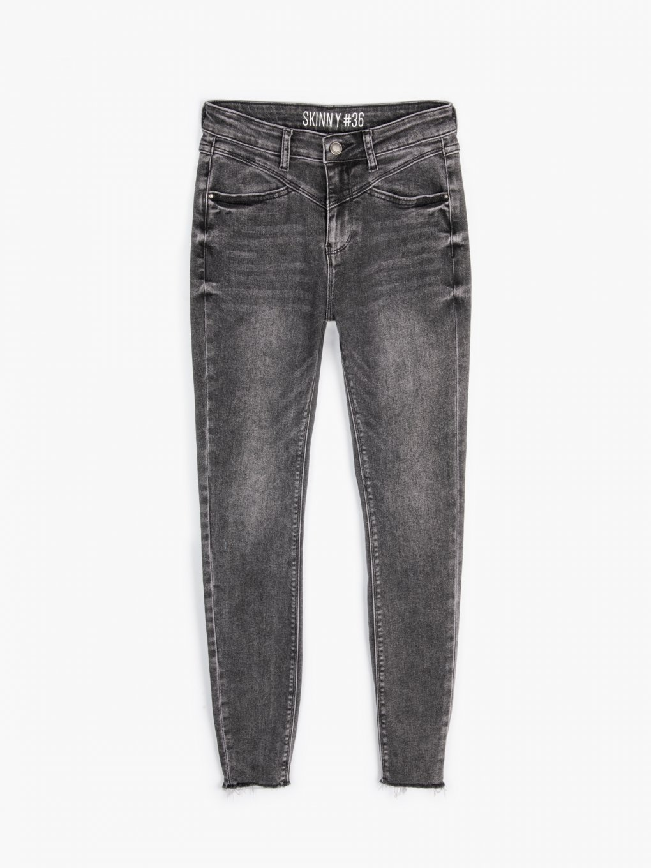 Skinny high-waist jeans