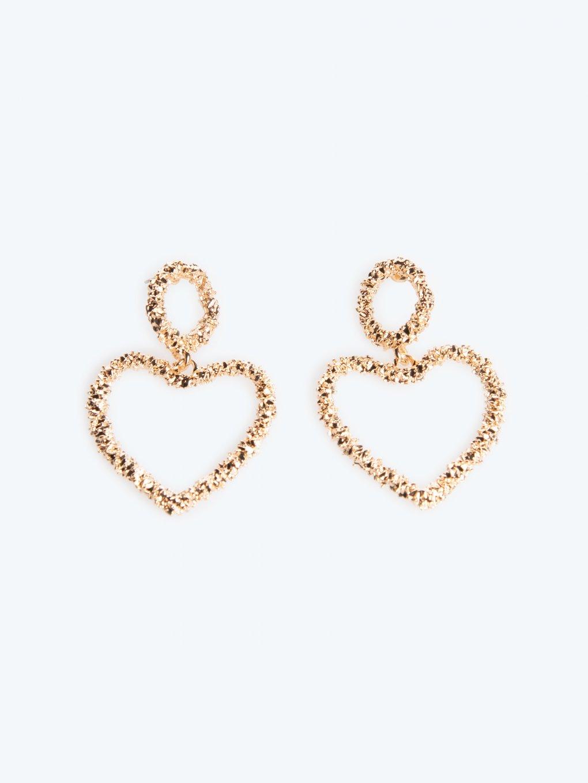 Kolczyki wiszące w kształcie serca