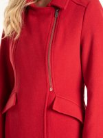 Plain coat in wool blend