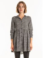Button down patterned dress