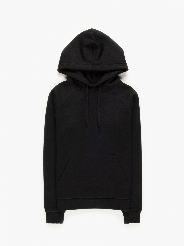 Basic hoodie with kangaroo pocket