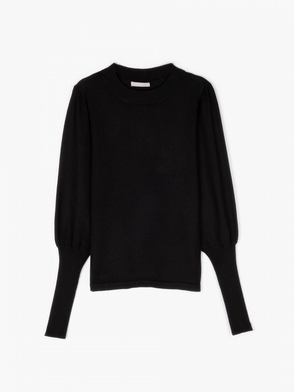 Jumper with puff sleeves