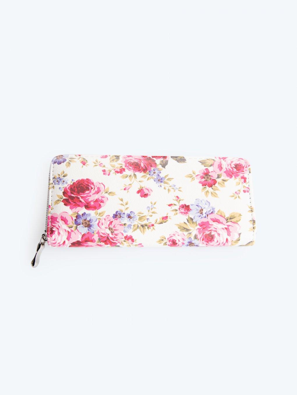 Peňaženka s kvetinovou potlačou