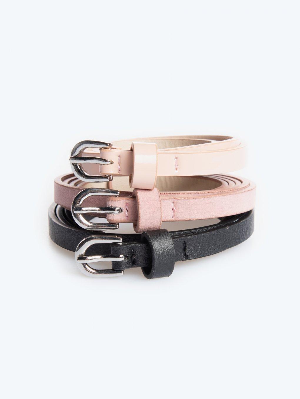 3-pack narrow belts