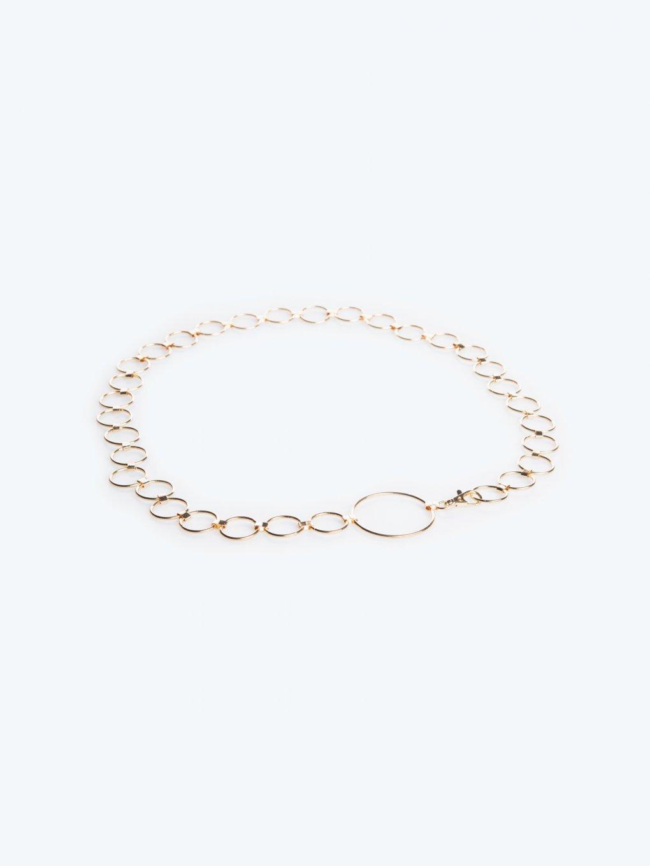 Metal rings belt