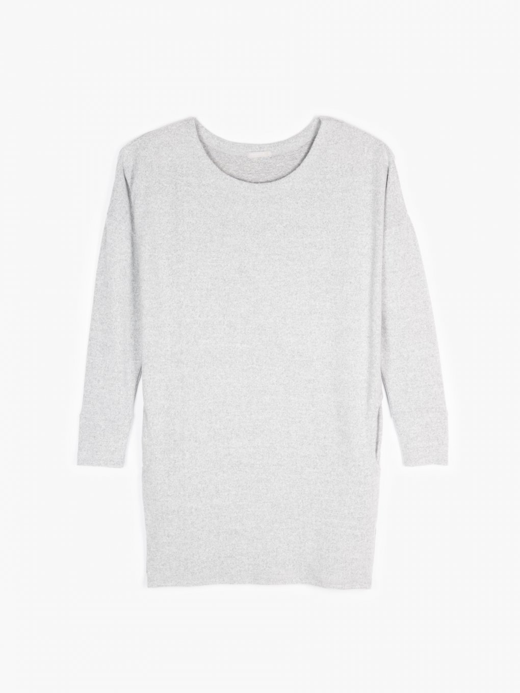 Plain longline jumper with pockets