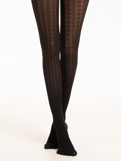 Patterend tights
