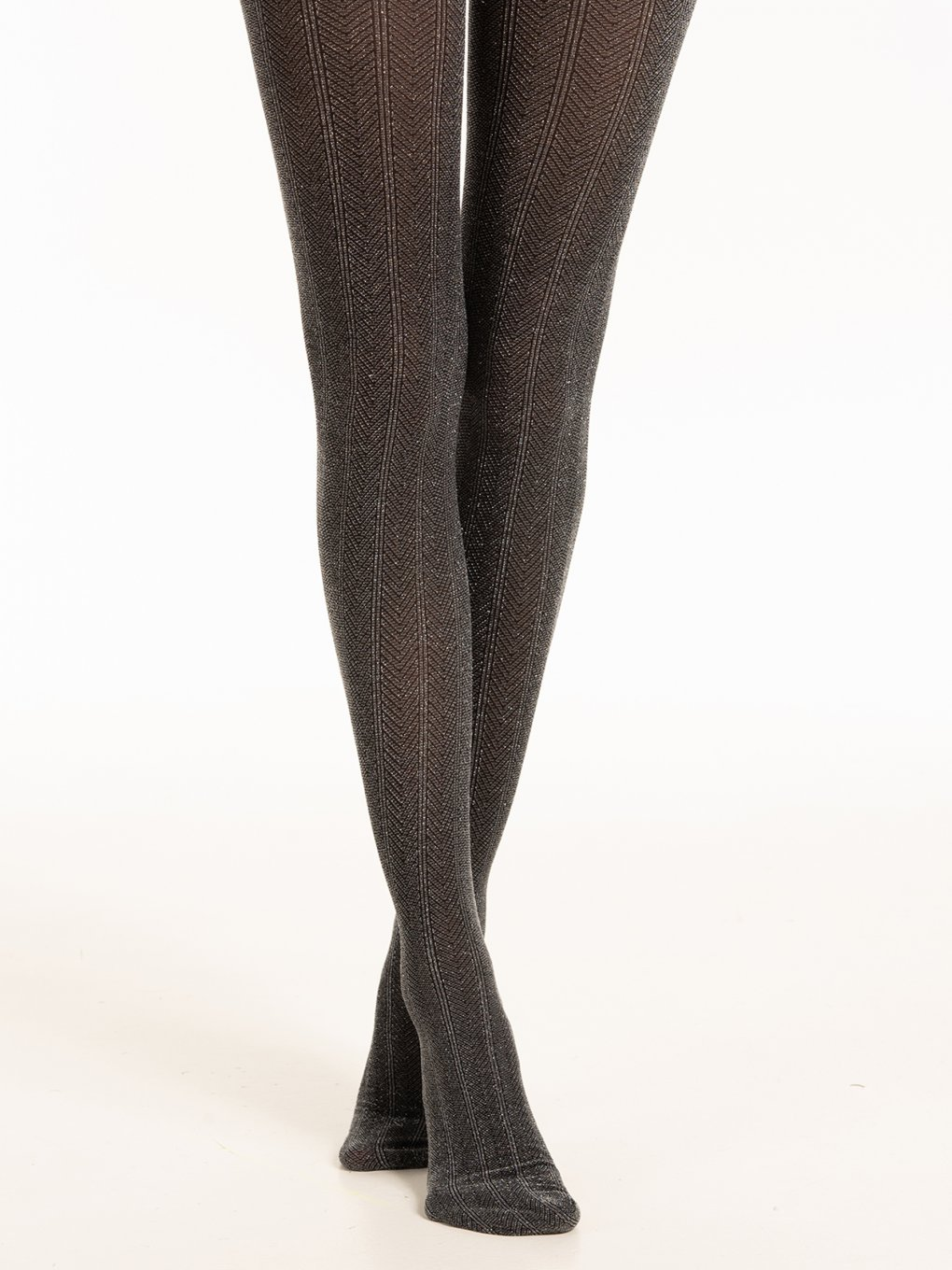 Tights with silver thread