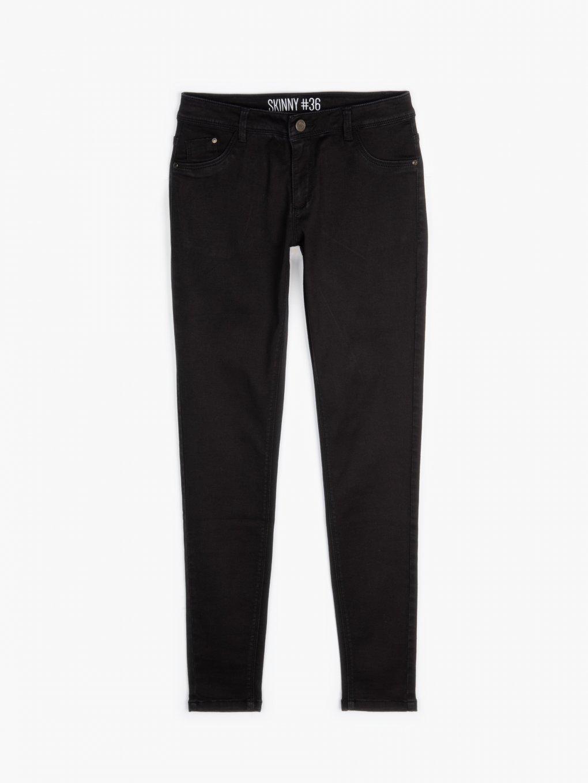 Jednoduché džíny skinny s nízkým pasem
