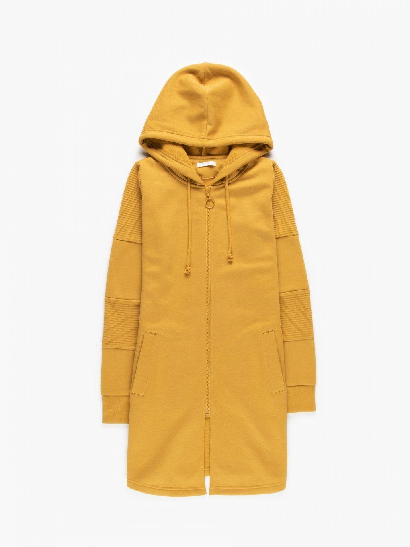 Longline zip-up hoodie
