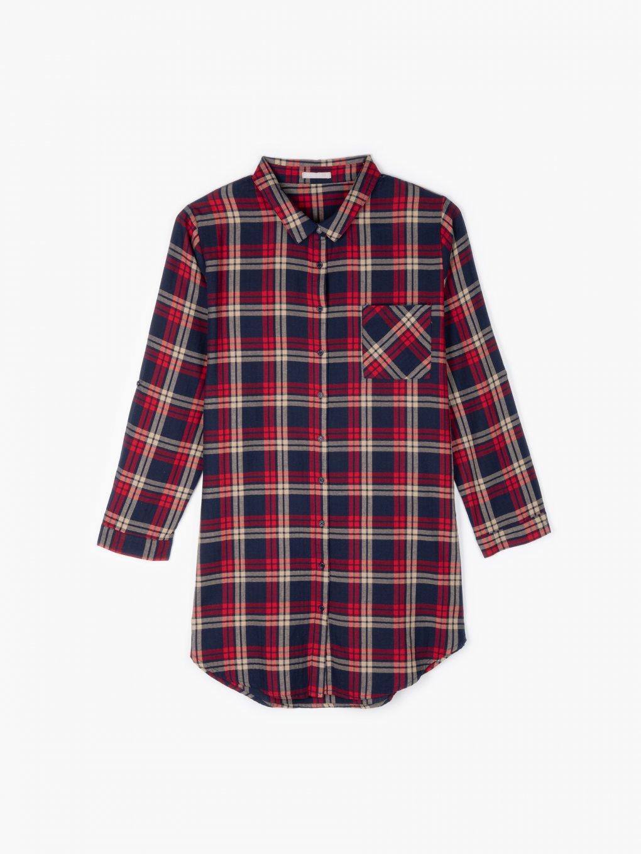 Dlhá károvaná košeľa
