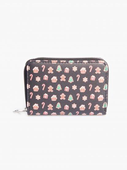 Peňaženka s vianočným motívom