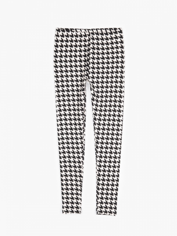 Houdstooth print leggings