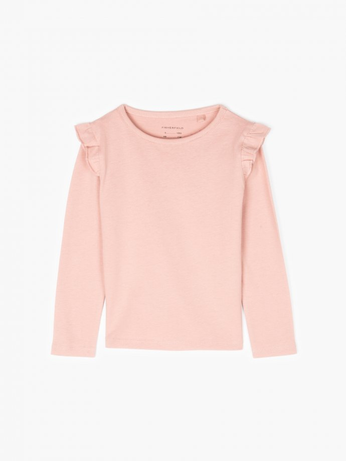 Basic t-shirt with ruffles