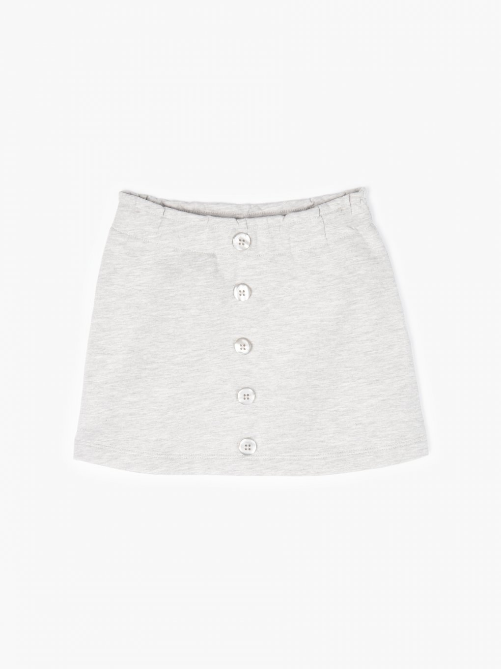 Mini skirt with buttons