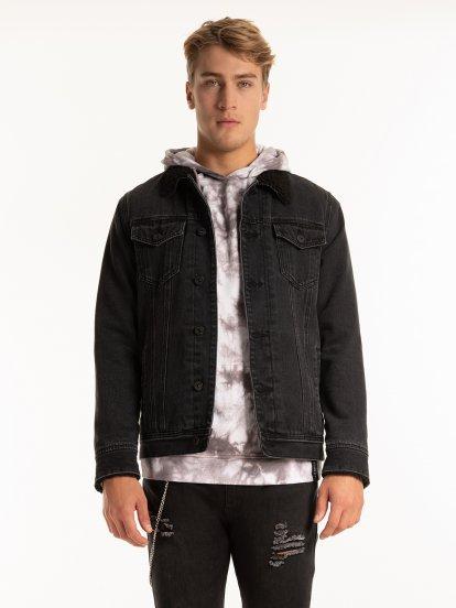 Džínsová bunda s plyšovou podšívkou