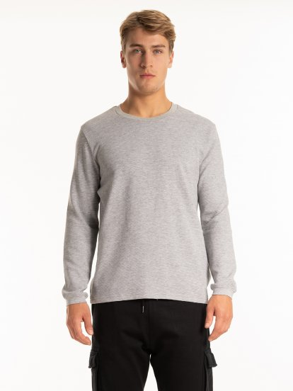 Long sleeve ribbed t-shirt