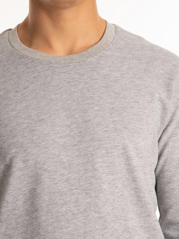 Žebrované tričko s dlouhým rukávem