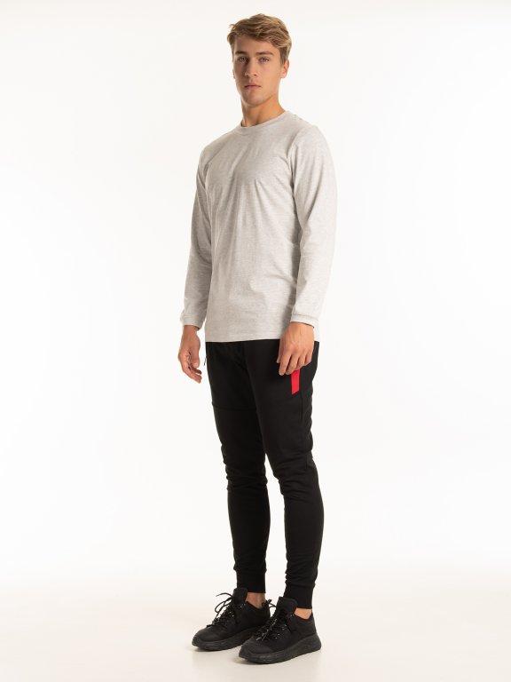 Basic koszulka z długim rękawem
