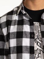 Plaid slim fit flannel shirt