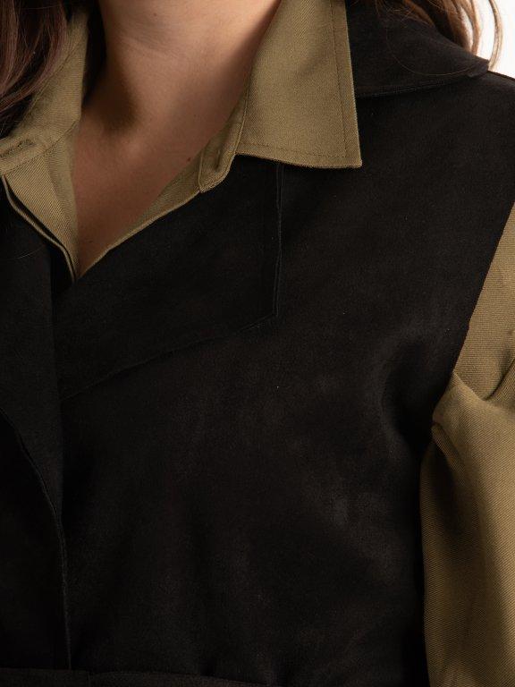 Faux suede vest