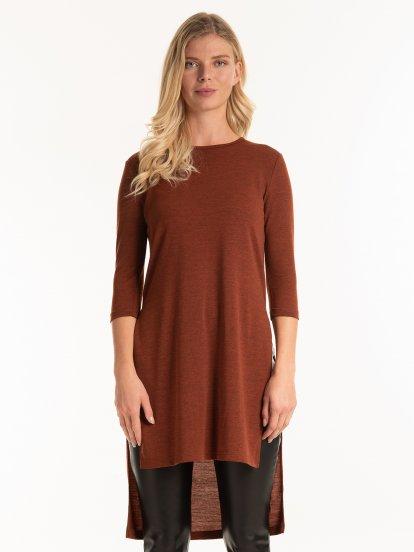 Fine knit longline top