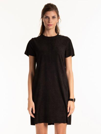 Sukienka z imitacji zamszu
