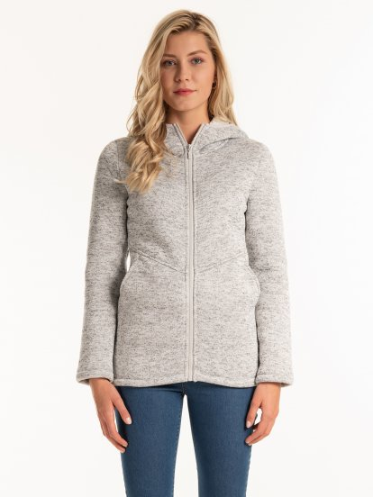 Pile lined marled jacket