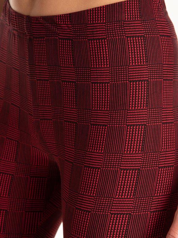 Checked print leggings