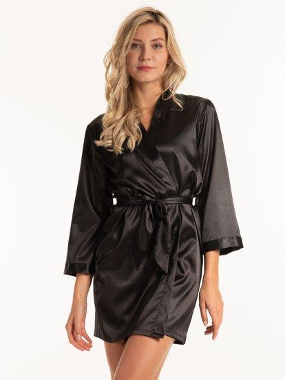 Satin bathrobe