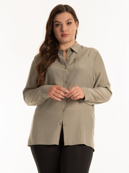 Textured button down shirt with soft finish