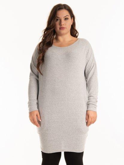Plain longline jumper with pockets