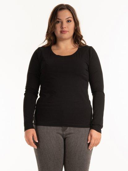 Základné tričko s dlhým rukávom