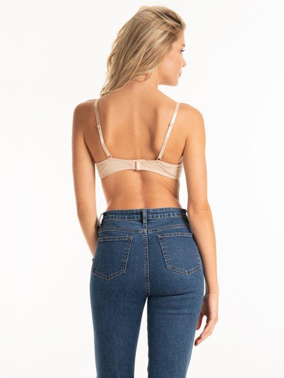 Plain padded bra