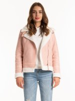 Sherpa lined biker jacket