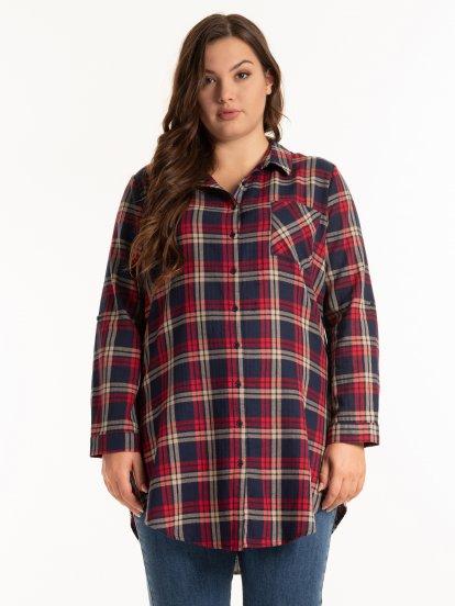 Dlouhá károvaná košile