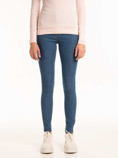 Basic high waist skinny jeans