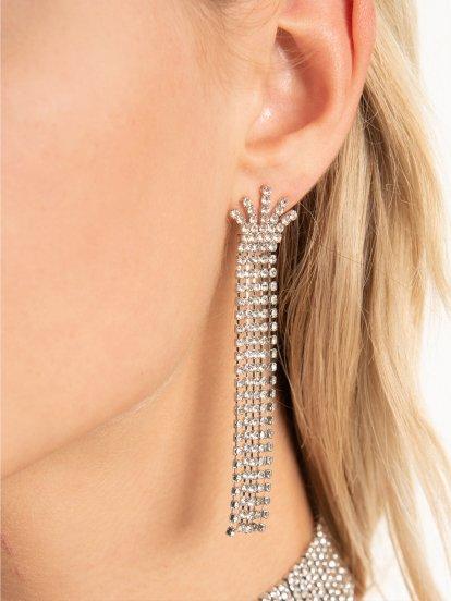Faux stone drop earrings