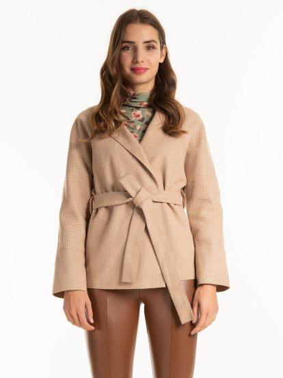 Kabát s páskem