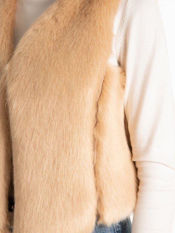 Vesta z umelej kožušiny