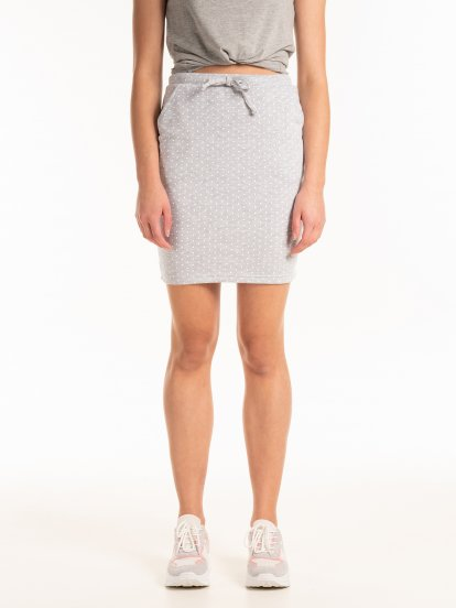 Polka dot print mini skirt